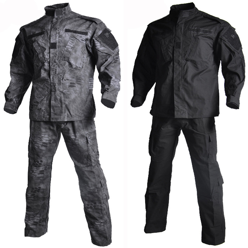 Military Uniform Shirt + Pants Outdoor Airsoft Paintball Multicam Tactical Ghillie Suit Camouflage Army Combat Hunting Clothes