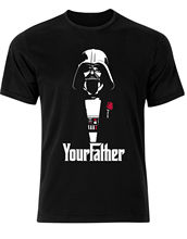 I bin dein Vater The Godfather Star Wars Lustig Herren T-Shirt Top ah87 Youth Round Collar Customized T-Shirts free shipping