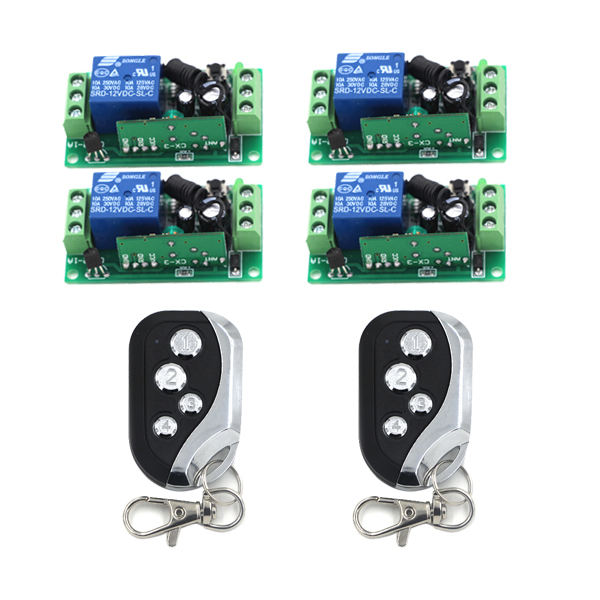 Mini RF Wireless Switch 2Transmitter 4Receiver Relay LED Indicator Learning Smart Home in Good Quality