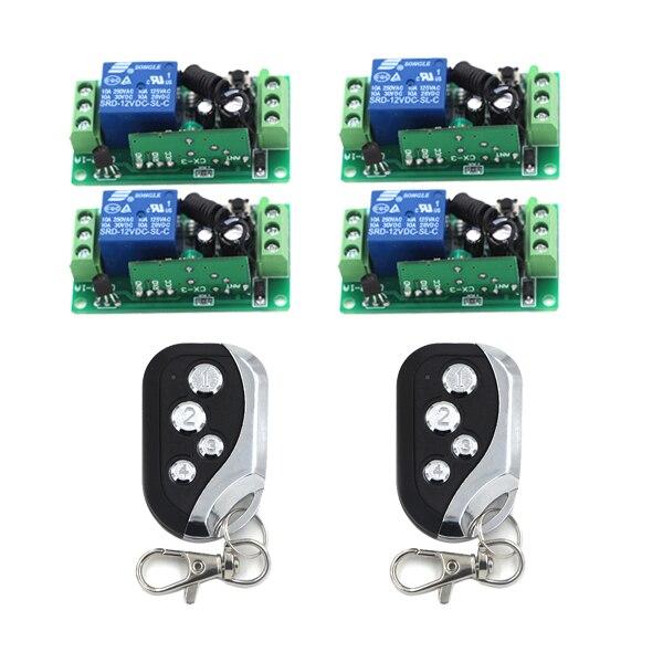 Mini rf switch inalámbrico 2 transmisor 4 receptor de relé led indicador de apre