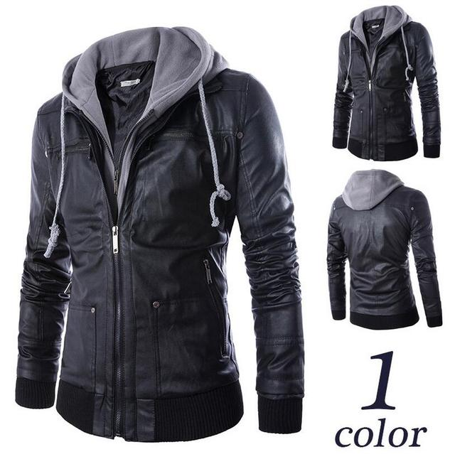 Russian real Winter Thick Leather Garment Business Casual Leather men Jacket Lapel High Quality Warm PU Coat Big size: M-4XL