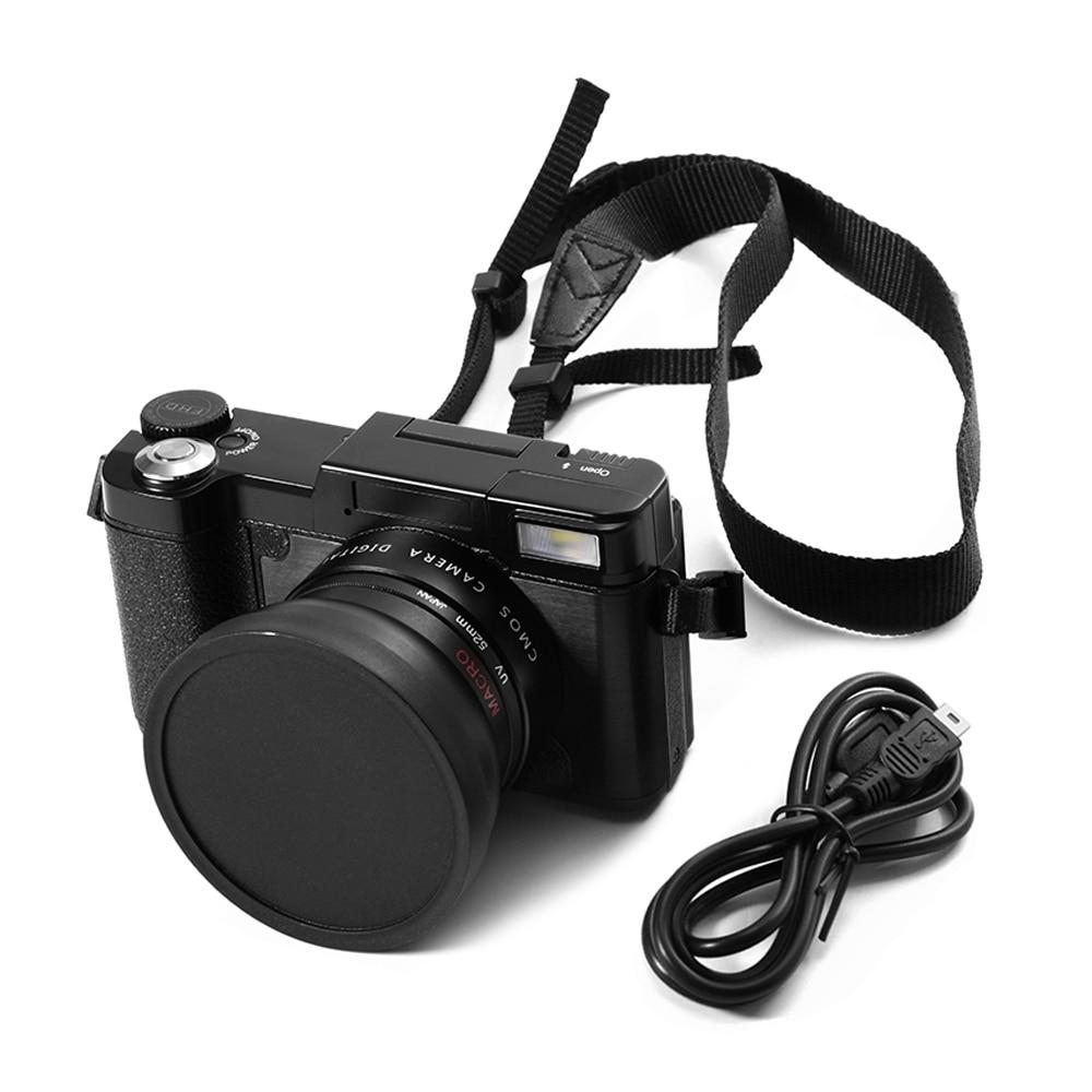 24MP HD Half-DSLR Professional <font><b>Digital</b></font> Camera 4x Zoom w/ Macro Wide Angle Lens 1080P <font><b>Digital</b></font> Video Camcorder DVR Recorder+Gift