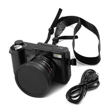 24MP HD Meia DSLR profissional Câmera Digital 4x Zoom w/Lens Macro Wide Angle 1080 P de Vídeo Digital camcorder DVR Recorder