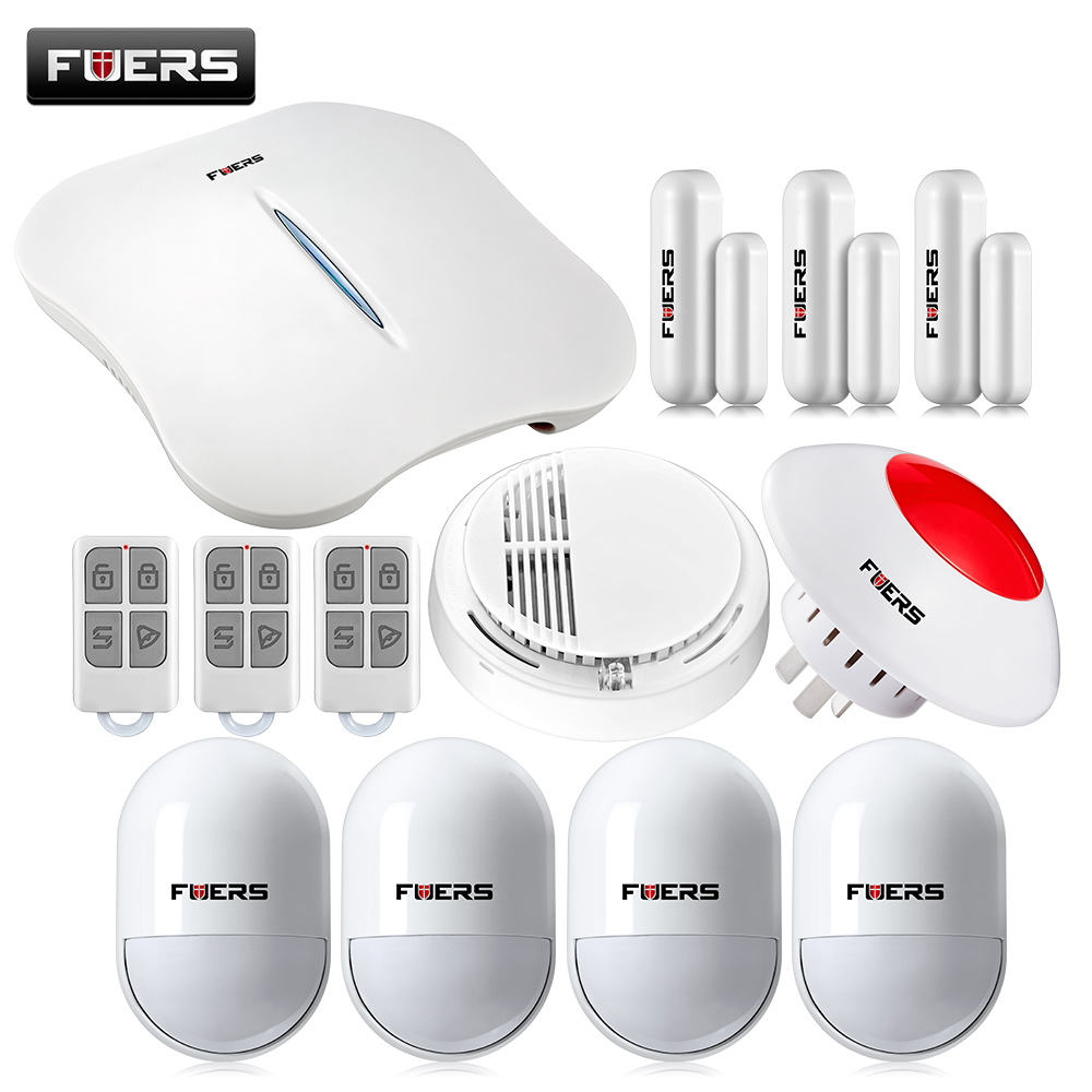 цены W1 WIFI PSTN Alarm Systems Security Home+Smoke Detector Wireless pir detector Alarm System Android/IOS APP Control