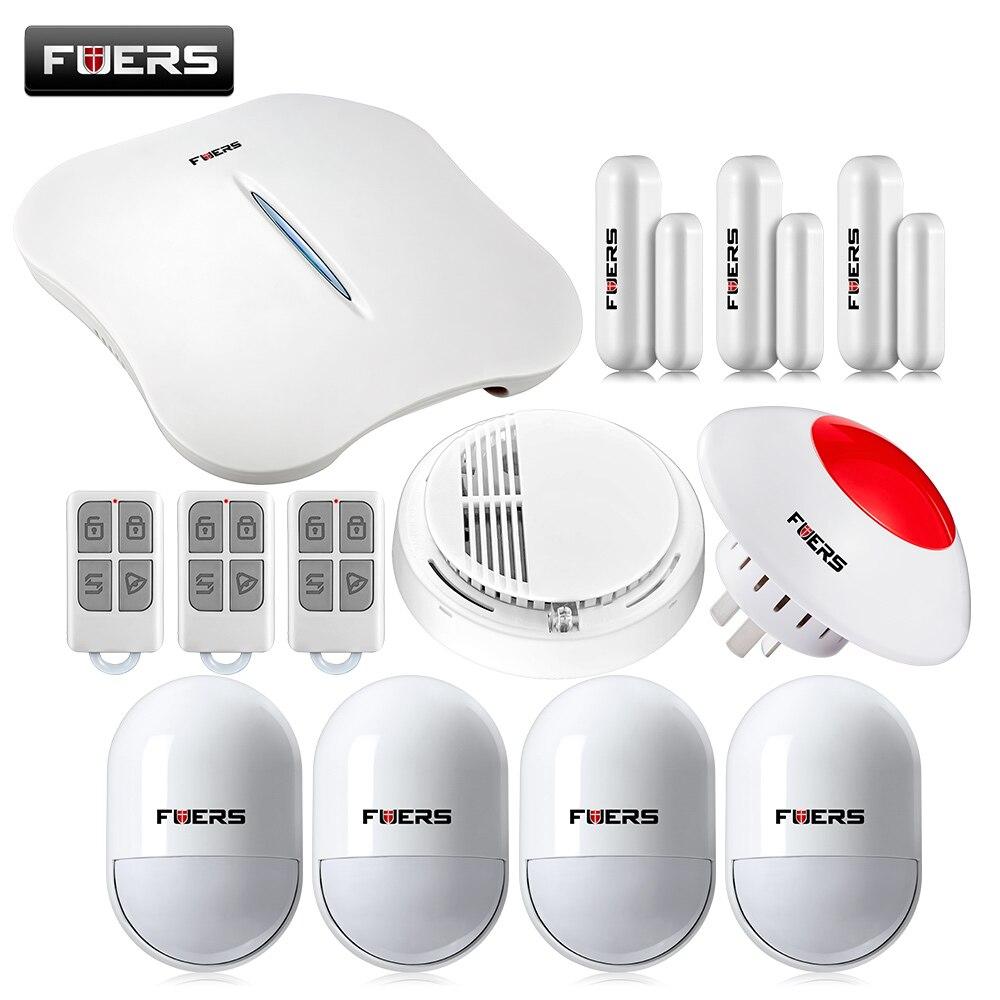 bilder für W1 WIFI PSTN Alarmanlagen Sicherheits Hause + Rauchmelder Drahtlose pir detektor Alarm System Android/IOS APP Steuer