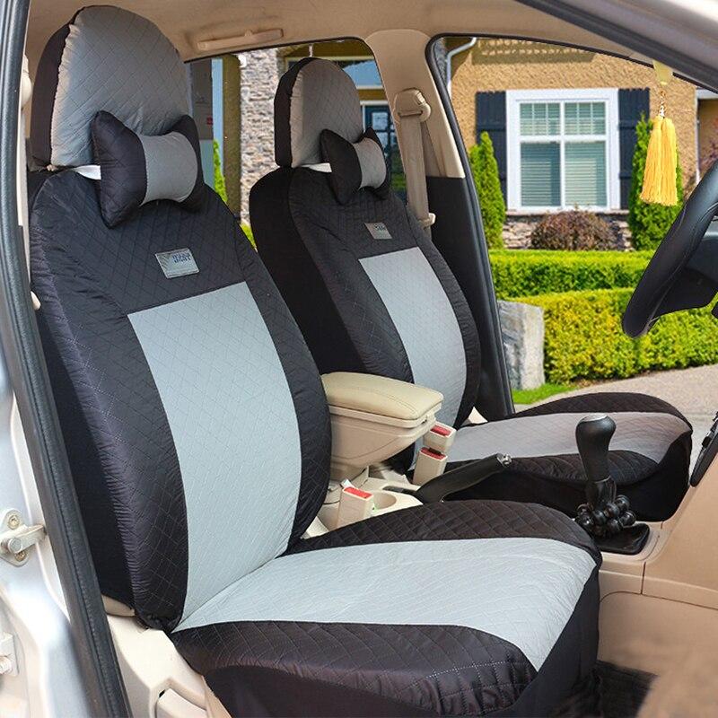 (Avant + arrière) housses de siège de voiture universelles pour Mitsubishi ASX Lancer SPORT EX Zinger FORTIS Outlander accessoires auto - 2