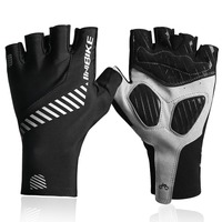 INBIKE New Half Finger Cycling Gloves GEL Pad MTB Bike Bicycle Gloves Breathable Fabric Reflective bar 316
