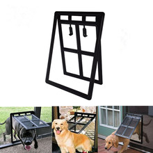 Home Flap Fold Resistant Animals Easy Install Puppy Pet Door Frame Accessories Gate Cat Dog Safe 2 Way Lockable Doghole(China)