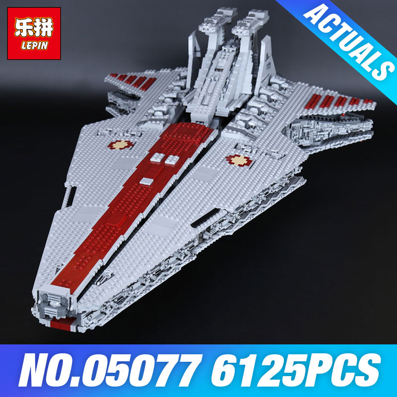 DHL Lepin 05077 Il UCS Rupblic Piano di Star Destroyer Cruiser ST04 Set Wars Blocchi di Costruzione Mattoni Educativi FAI DA TE Giocattoli Per I Bambini