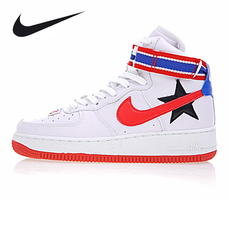 Nike Air Force 1 Hi / RT Men's and Women's Skateboarding Shoes , White/Black, Breathable Lightweight AQ3366 100 AQ3366 001