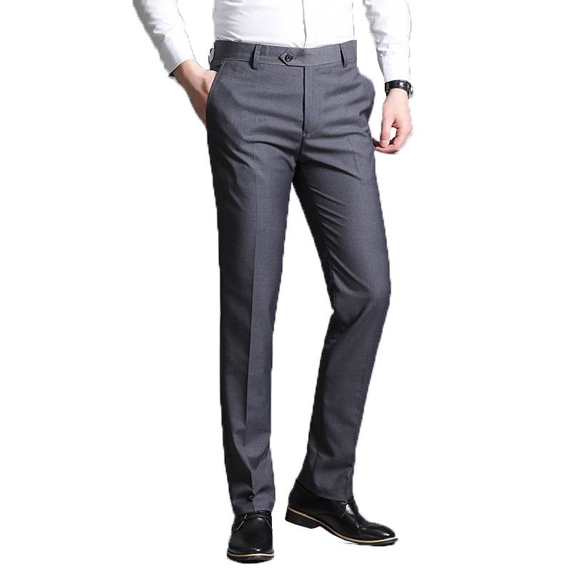 Suit Pants Office-Trousers Classic Business Male Mens Summer 38 Straight Hombre