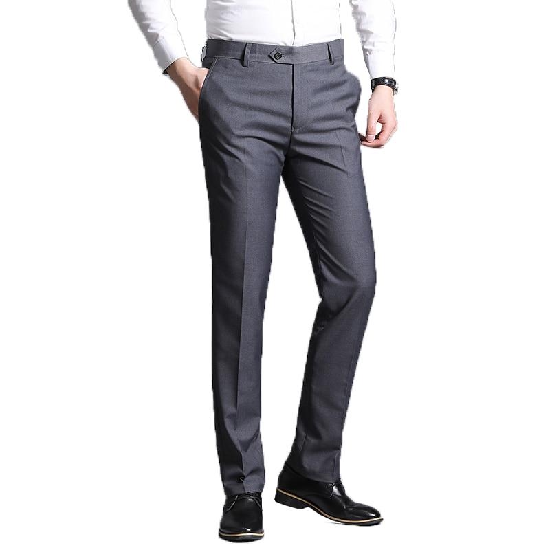 Men Suit Pants 2019 Summer Men Dress Pants Straight Business Office Trousers Mens Formal Pants Classic Male Pantalon Hombre 38