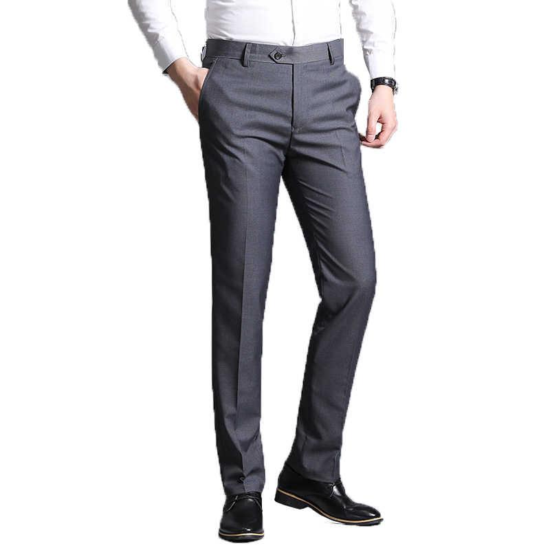 Pantalones De Vestir Finos Para Hombre Pantalon De Oficina De Negocios Clasico 38 2020 Pantalones De Traje Aliexpress