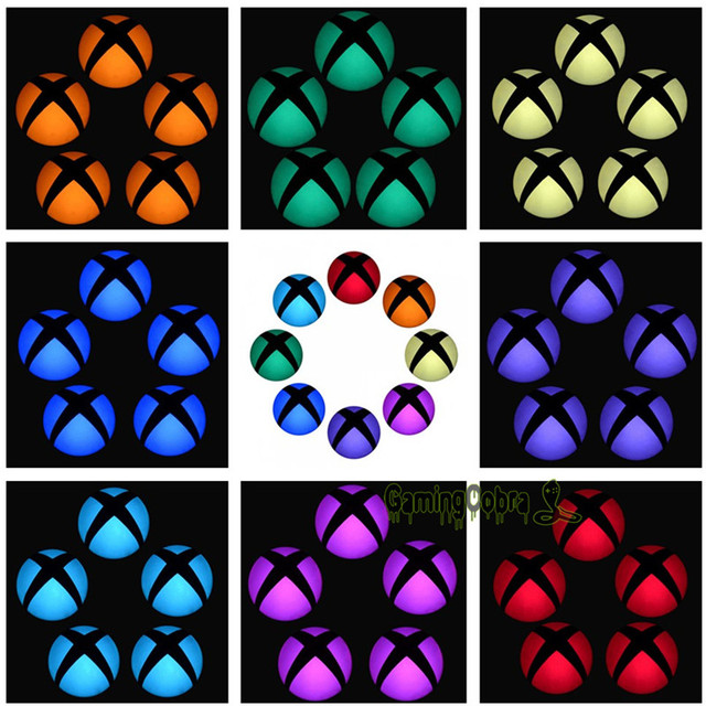 eXtremeRate Logo Power Button Wrap Stickers LED Color Change Skin Cover for Xbox One