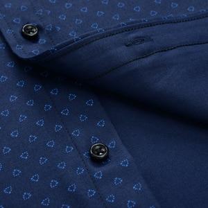 Image 4 - 큰 크기 셔츠 남자 10xl 11xl 12xl 옥스포드 인쇄 캐주얼 남자 셔츠 긴 소매 영국 스타일 플러스 szie 셔츠 남자 75 150 kg