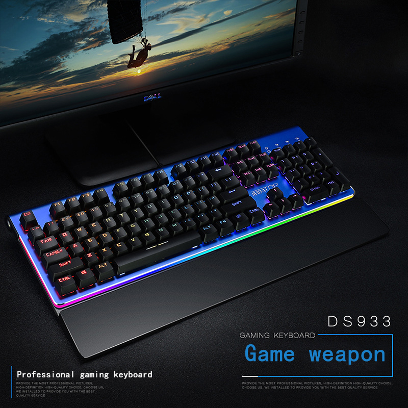 DS933 Professional Mechanical Keyboard RGB Backlight Waterproof Optical Axis Real Mechanical Gaming Keyboard USB Super Wide HandDS933 Professional Mechanical Keyboard RGB Backlight Waterproof Optical Axis Real Mechanical Gaming Keyboard USB Super Wide Hand