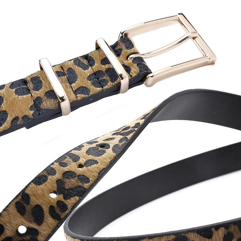 Horsehair Belt With Leopard Pattern Belt 4
