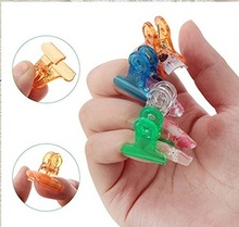 5pcs Nail Tips Clip Finger Extension Quick Building Mold Tips Nail Dual Forms Nail Art Tool 4 Colors