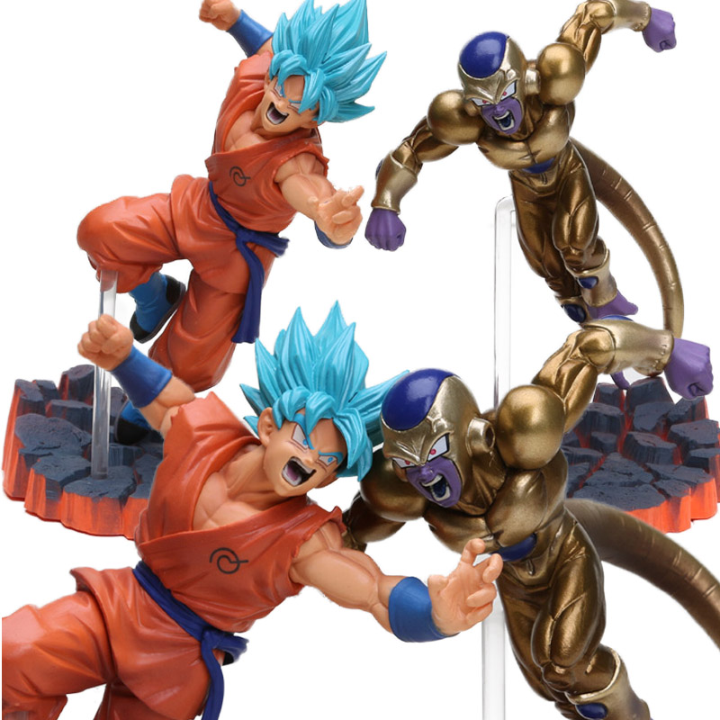 Dragon Ball Z Action Figure – Super Saiyan Goku Son vs Freeza Freezer Ultimate Form | 14cm