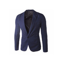 2016 Brand Clothing Blazer Men One Button Men Blazer Slim Fit Costume Homme Suit Jacket Masculine