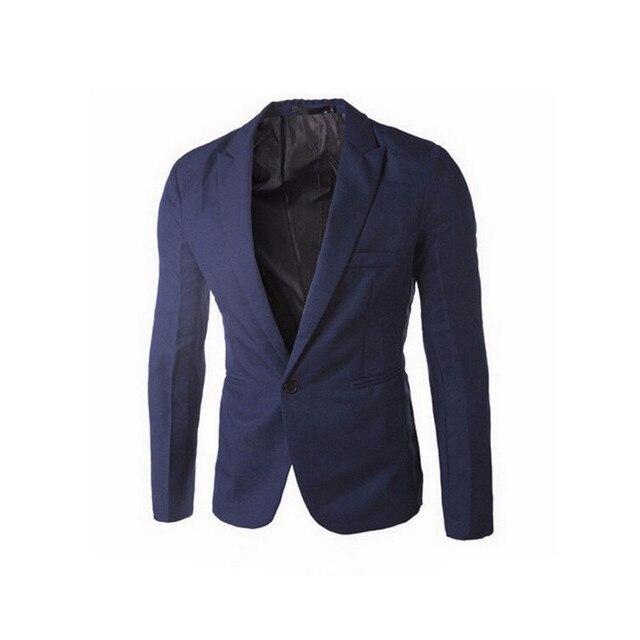 2017 Brand Clothing Blazer Men One Button Men Blazer Slim Men Suit  Suit Jacket Masculine Blazer Size M-3XL