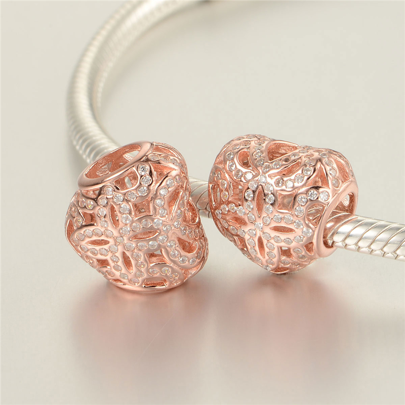 925 Sterling Silver Jewelry Factory Outlet Rose Gold Pattern Heart ...