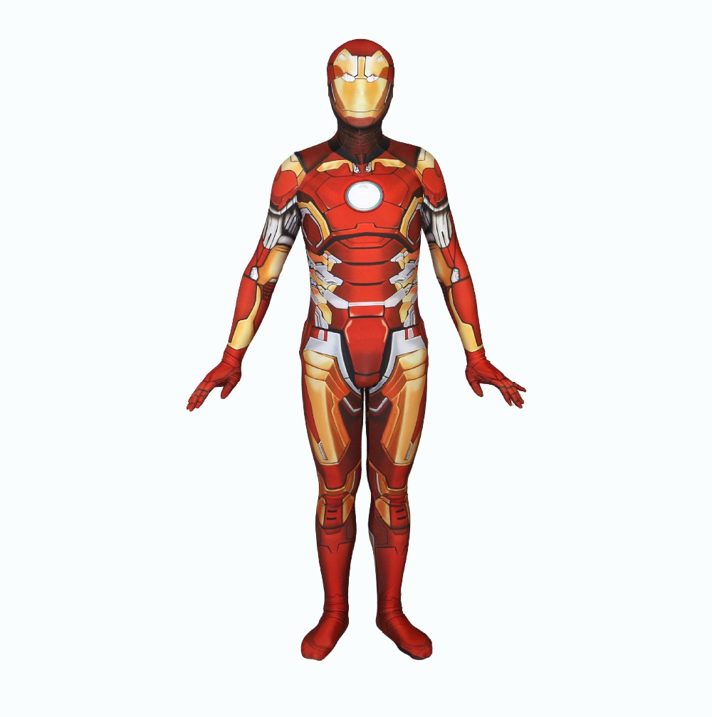 Iron Man 3D print Cosplay Costumes lycra zental Jumpsuits fancy halloween party Bodysuit for Purim