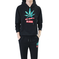 Loldeal Tracksuit Men Quality Spring Men Sporting Hooded Hoodie + Pants Two Piece Sweat Set Track Suit For Men Clothes 2018