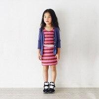 Colore di frutta per bambini in cotone neonate primavera e autunno Cardigan vestiti dei bambini di Vendita Al Dettaglio 2-6 anni abbigliamento 1BJ506CT-06R