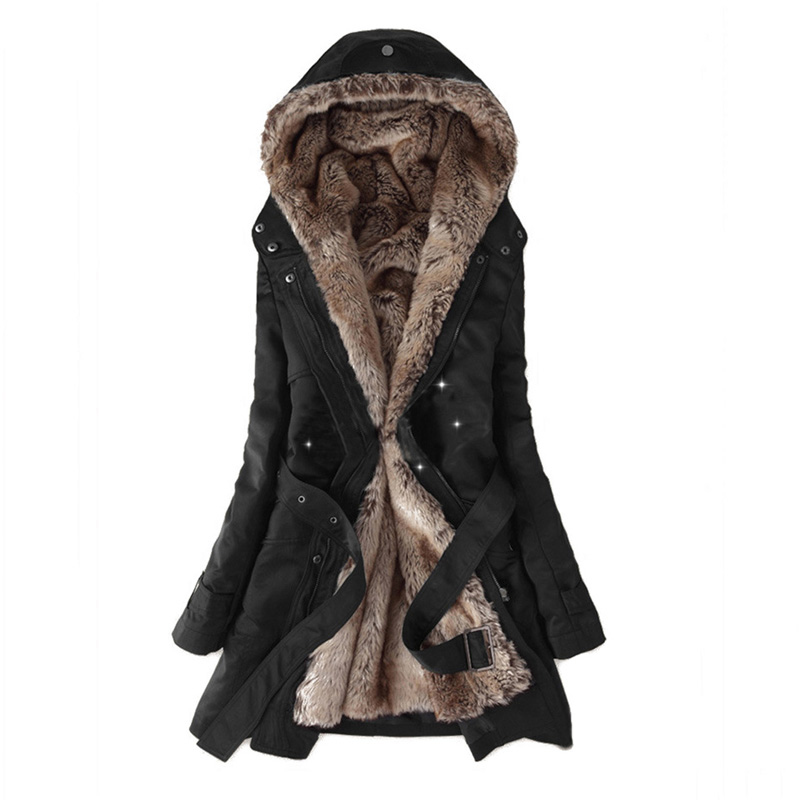 Chaqueta de invierno de mujer 2018 Casual señoras abrigo básico chaqueta femenina cálida de manga larga parkas de mujer