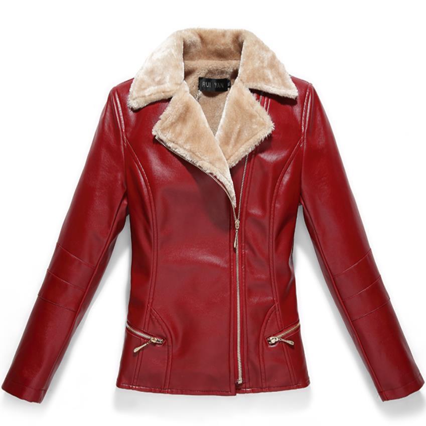 7xl Winter Leather Plus Velvet Warm Large Size Leather Coat Pu