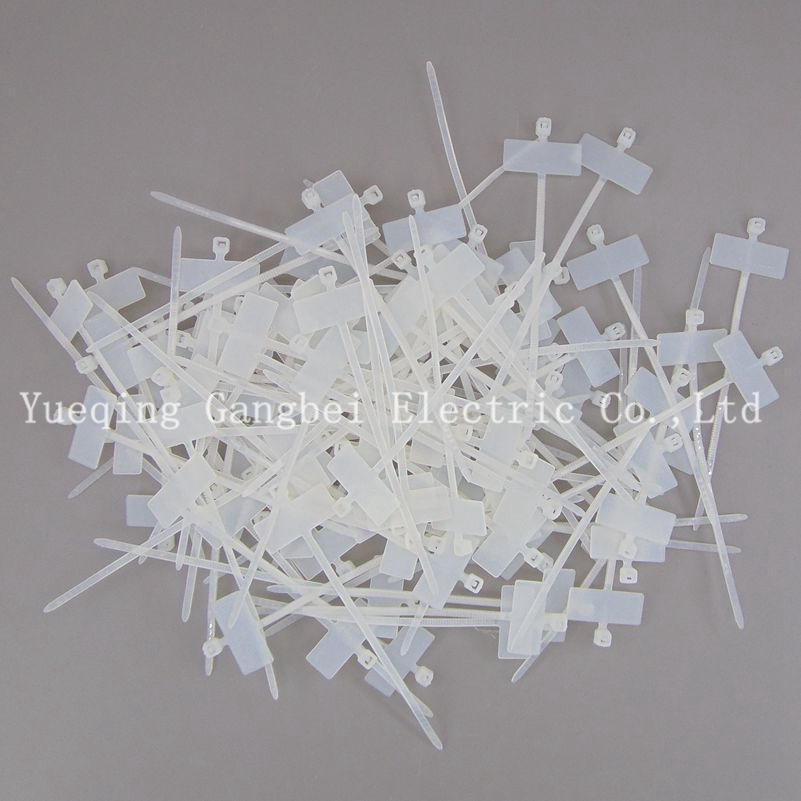 100PCS 3*100 nylon cable tie tag cable label marking fascetta nylon label for cable