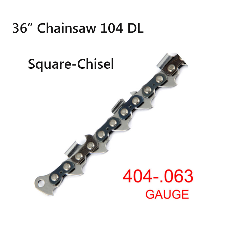 .404 Pitch 0.063 Gauge 36 Square-Chisel 104 Drive links Shape Blade wood cutting Saw Chain  Free shipping 1PC high speed mini bench cut off saw steel blade for cutting metal wood plastic with adjust miter gauge