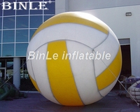 Customized 15ft giant inflatable volleyball large ball model for sports game advertising