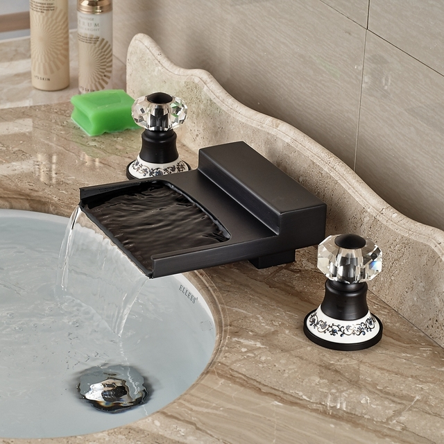 Wholesale And Retail Promotion Crystal Ceramic Handles Oil Rubbed - Retail bathroom fixtures