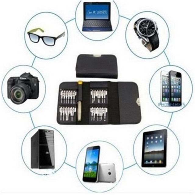 For Mobile Phone, PC Laptop, Macbook, Tablet, iPad, Computers 25 in 1 Repair Opening Tool Kit Torx Phillips Screwdriver