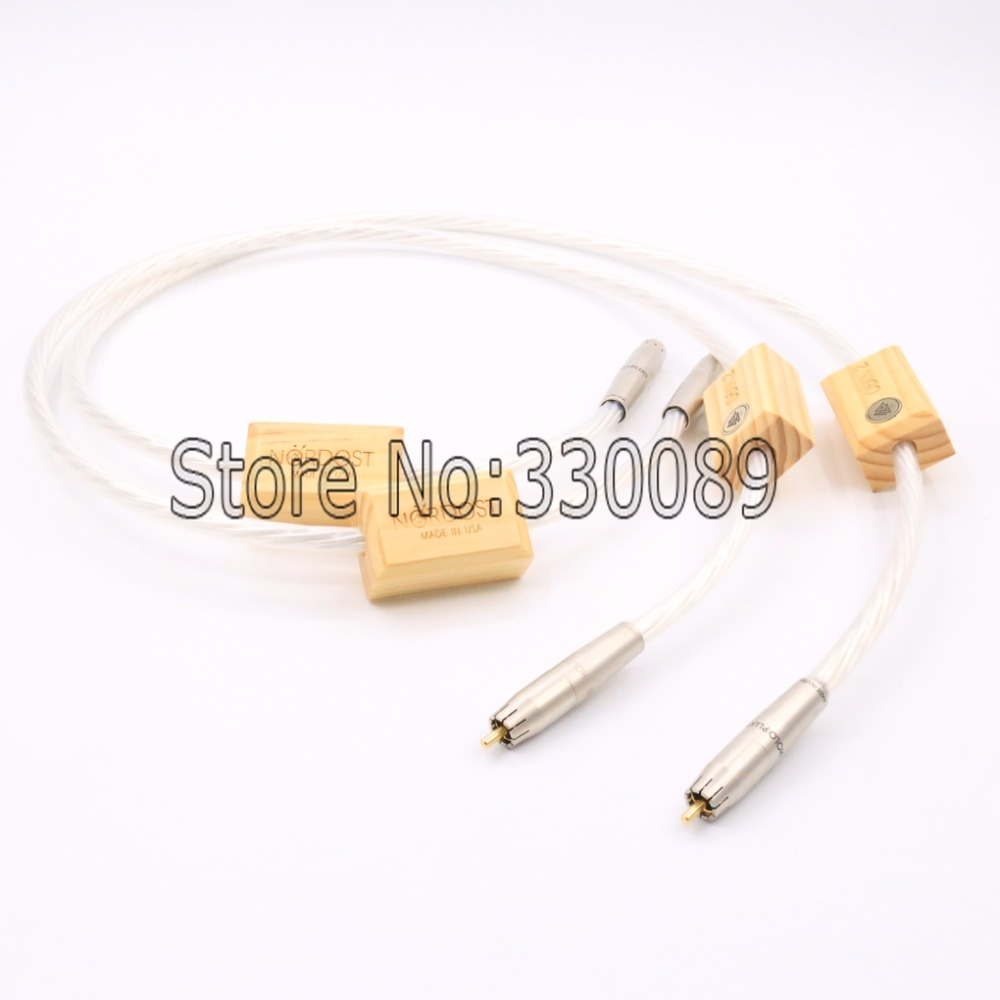 Free shipping 3M/Pair Nordost Odin 2 silver Supreme Reference interconnects RCA cable Audiophile free shipping nordost odin 2 silver speaker cable with silver banana plug or spade plug