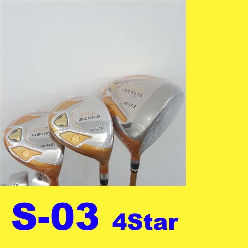Men HONMA Beres S-03 S03 4 Star Golf Clubs Driver Fairway woods Female R/S/SR Shaft JapanMen HONMA Beres S-03 S03 4 Star Golf Clubs Driver Fairway woods Female R/S/SR Shaft Japan