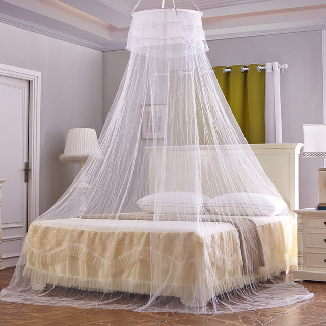 Online Shop Luxe Bud Zijde Bed Canopy Klamboe Bedden Canapy Bug Fly ...