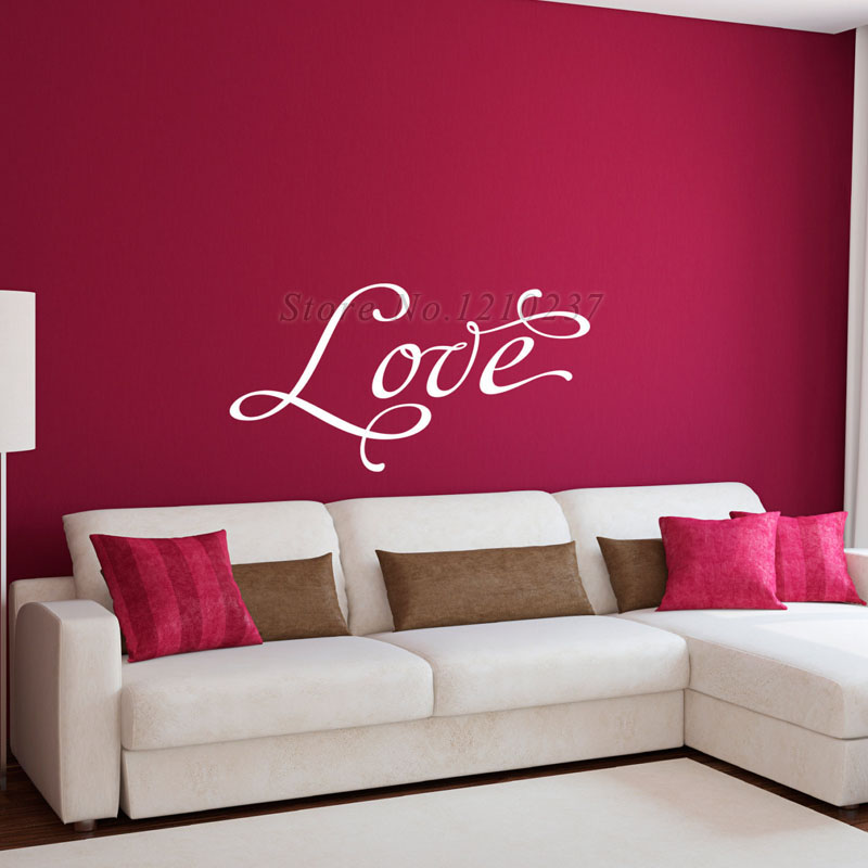Dctop Love Wall Stickers Home Decor Living Room Decorations Simple Design Removable Art Pvc Wall Decals