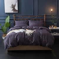 Purple Stripes Duvet Cover Sets 100 Egyptian Cotton Luxury Bedding Sets Queen King Size Solid Color