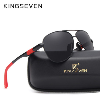 KINGSEVEN Metal Polarized Sunglasses Driving Men Women Brand Designer Glasses Fashion Eyewear 100% UV Protection