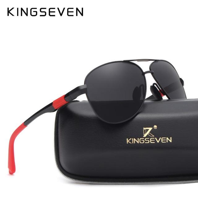 KINGSEVEN Metal Polarized Sunglasses Driving Men Women Brand Designer Glasses Fashion Eyewear 100% UV Protection