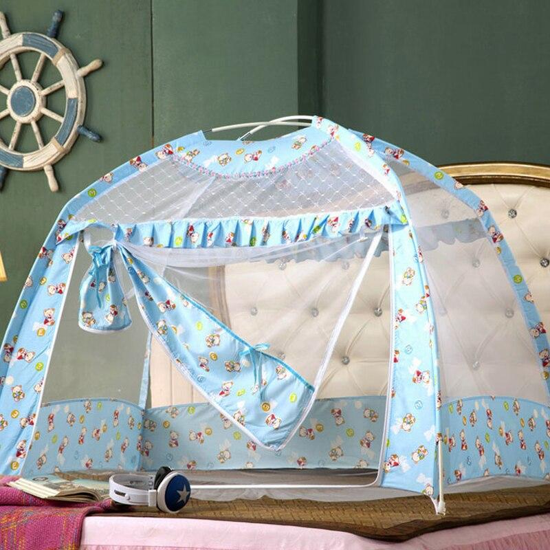 Bébé berceau moustiquaire enfant bébé berceau filet moustiquaire avec supports de fond voyage Portable plié moustiquaire