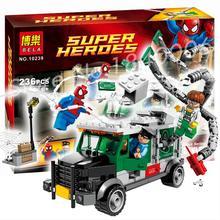 Marvel 10239 Superheroes Avengers SpiderMan large Doc Ock Truck Heist Building bricks Blocks Compatible with Lego