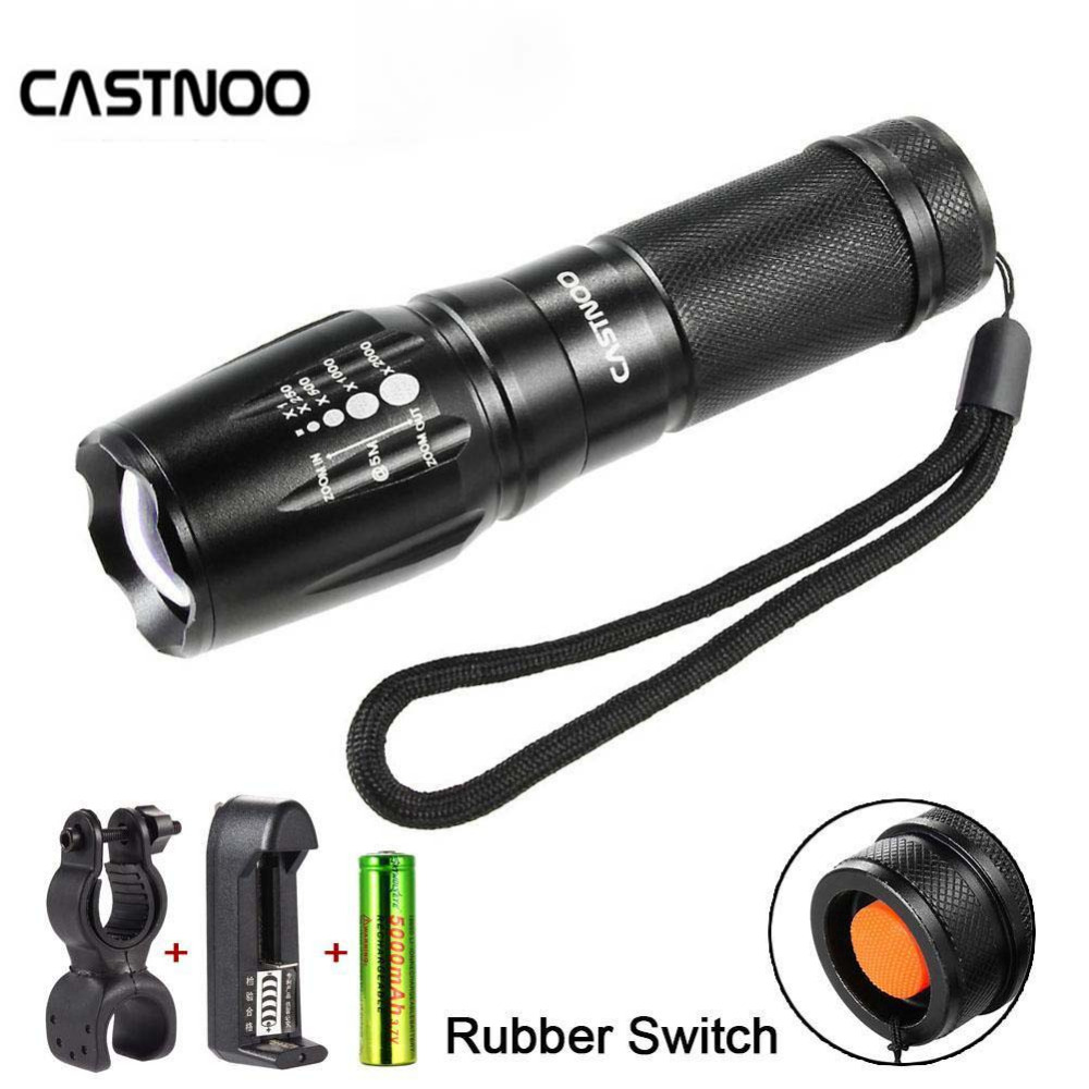 Energetic Anjoet 006 Mini Q5 Led Flashlight Lamp 3-mode Lanterna Zoomable Linterna Led Bike Lamp Torches Charger 18650 Battery Led Flashlights