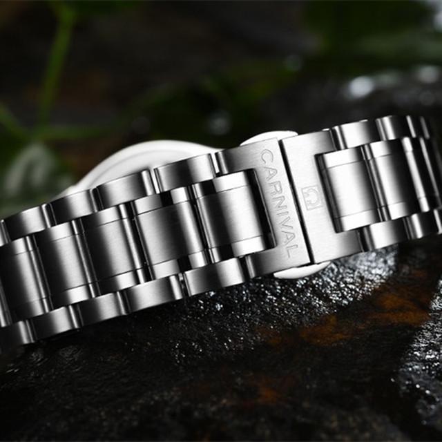 Tritium gas light watch military diving sport waterproof 200M quartz luminous full steel mens luxury brand leather strap watches