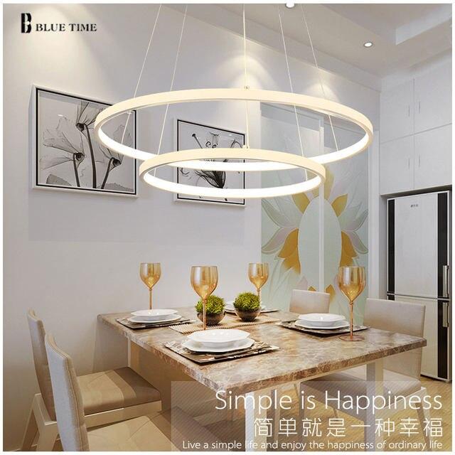 Anneaux Moderne LED Plafonnier Simple Lustre Suspendu Plafond LED Pour Salon Salle Manger clairage AC85 260V.jpg 640x640q90 5 Merveilleux Plafonnier Pour Salle A Manger Ojr7