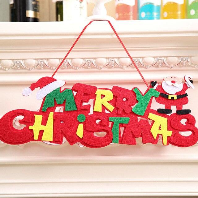 Frohe Weihnachten Englisch.Us 2 88 Nicht Woven 15 42 Cm Frohe Weihnachten Englisch Brief Weihnachten Ornament Dekoration Für Wohnkultur Hängen Anhänger Weihnachten Geschenk