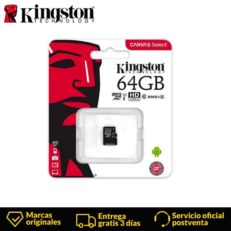 Kingston Technology Canvas Select Micro SD card 64GB MicroSD Memory Card UHS 1 Class10  flash card MicroSDXC TF/SD Cards 64gb-in Memory Cards from Computer & Office